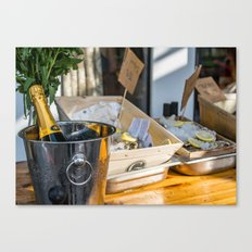Oyster&Chanmpagne Canvas Print