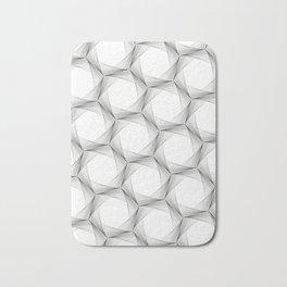 crazy hexagons Bath Mat