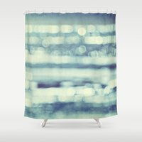 blur Shower Curtains featuring blur by Bonnie Jakobsen-Martin