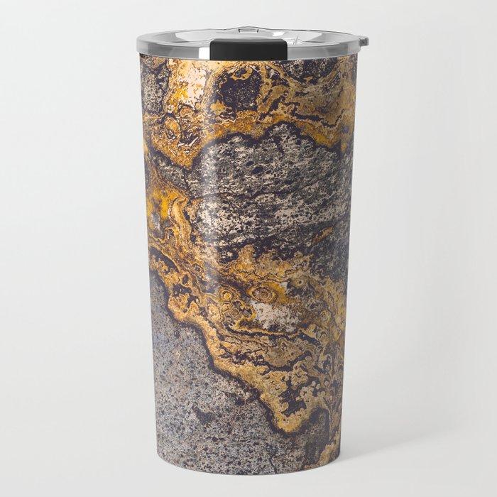 Gold Inlay Marble II Travel Mug
