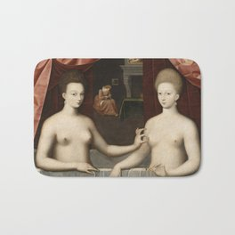 Anonymous - Gabrielle d Estrees and one of her sisters. Bath Mat