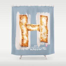 Halloumi cheese Shower Curtain