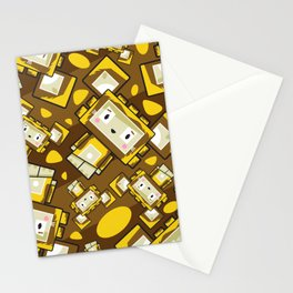 Cute Cartoon Blockimals Lion Pattern Stationery Cards