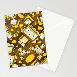 Cute Cartoon Blockimals Lion Pattern Stationery Cards
