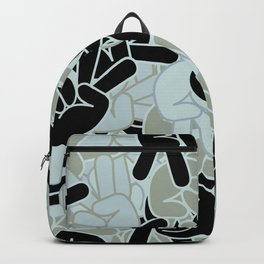 Peace Sign Camo Backpack