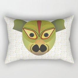 Devil amphibian bird mask Rectangular Pillow