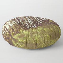 Summer Forest Sunlight - Nature Photography Floor Pillow