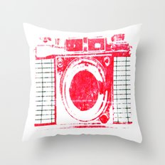Red Camera Throw Pillow