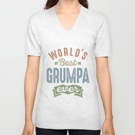 World's Best Grumpa Unisex V-Neck