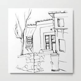 Old house on the street in the Plovdiv's old town Metal Print