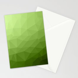 Greenery ombre gradient geometric mesh Stationery Cards