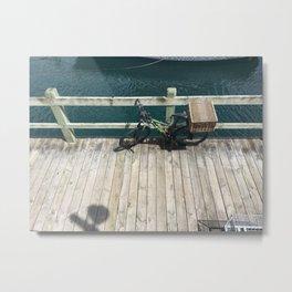 Marina Bicycle Metal Print