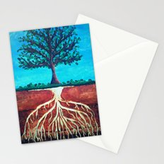 A tree only stands tall because of it's roots. Stationery Cards