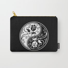 Black and White Yin Yang Roses Carry-All Pouch