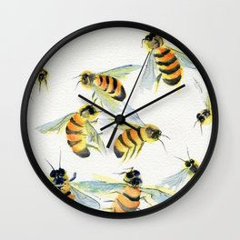 All About Bees Wall Clock