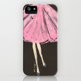 Jolie Pink Fashion Illustration iPhone Case