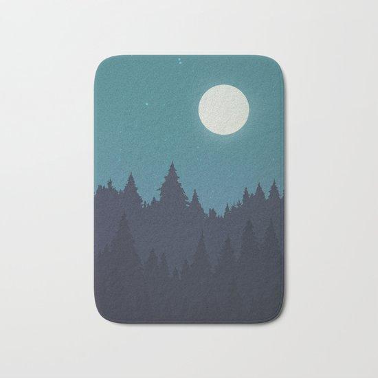 Tree Line - Turquoise Bath Mat