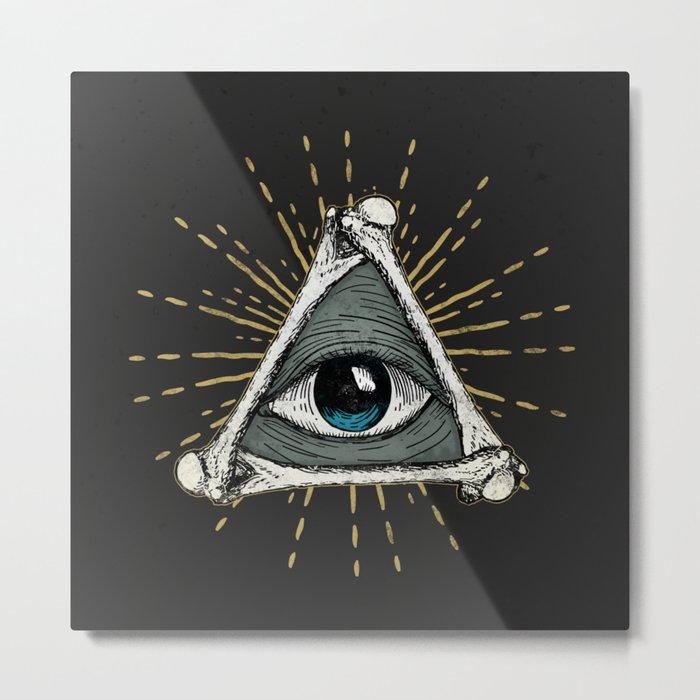 All seeing eye of God Metal Print