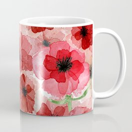 Pressed Poppy Blossom Pattern Coffee Mug