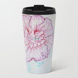multi-media flower Travel Mug