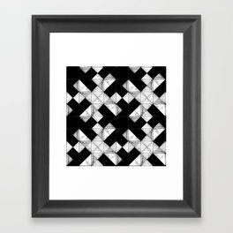 Marbled tile Framed Art Print