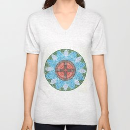 stained flower Unisex V-Neck