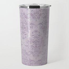 Vintage chic violet lilac floral damask pattern Travel Mug