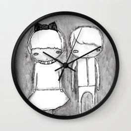 Indigo Twins Wall Clock