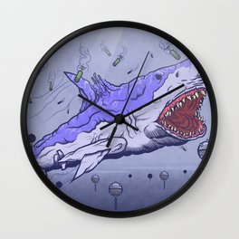 Submarine shark Wall Clock
