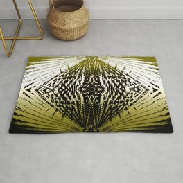 Shield of Gold Palms Rug