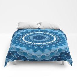 Blue mandala 2 Comforters