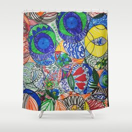 Draw Something For Fun Shower Curtain