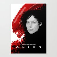 alien Canvas Prints featuring Alien by TheRandomFactory