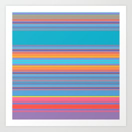 Bold Color Rainbow Stripes Art Print