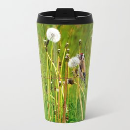 Europan goldfinch in late Spring Travel Mug
