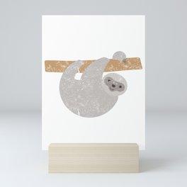 Cute Distressed Sloth Running Team Mini Art Print