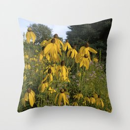 Prairie coneflower Throw Pillow