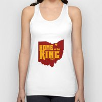 lebron Tank Tops featuring Home of the King (Yellow) by Denise Zavagno