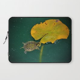 Baby Turtle And Lily Pad Laptop Sleeve