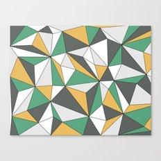 Geo - orange, green, gray and white. Canvas Print