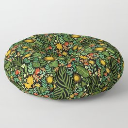 Sunshine Botanical - Dark Version Floor Pillow
