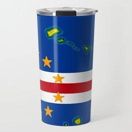 Cape Verde Flag with Map of the Cape Verde Islands Travel Mug