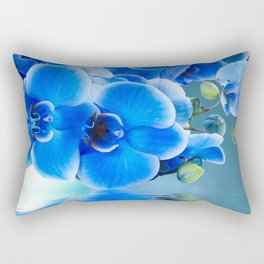 Blue Orchids Rectangular Pillow