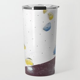 Geometric abstract free climbing bouldering holds pink yellow Travel Mug