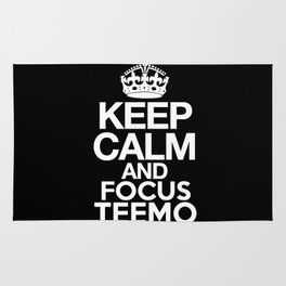 Keep Calm and Focus Teemo - League of Legends Rug