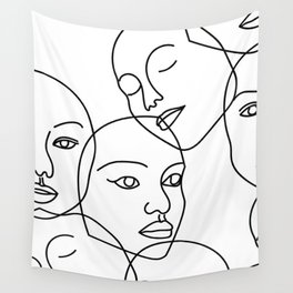 Surreal Faces Wall Tapestry