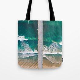 Seal Beach Waves Tote Bag