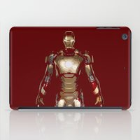 iron man iPad Cases featuring Iron Man  by George Hatzis