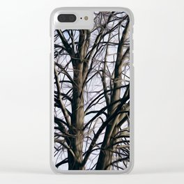 Stained Glass Tree Clear iPhone Case