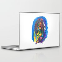 queer Laptop & iPad Skins featuring Queer Face by Gersande